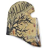 Balaclava Happy Halloween Sitting Owl Pumpkins Full