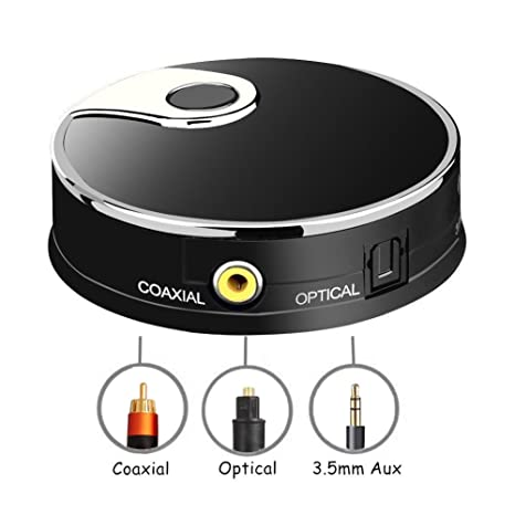 URANT Bluetooth Transmitter Optical, Digital Optical TOSLINK/ 3.5mm /Coaxial Wireless Audio Adapter