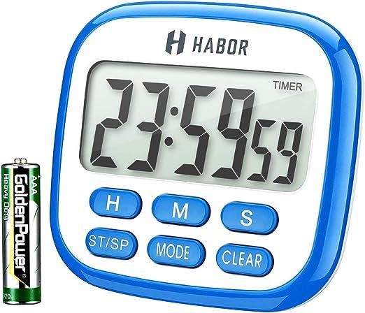 Amazon.com: Temporizador multifuncional, reloj, alarma ...