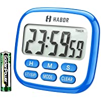 Habor Kitchen Timer, 24-Hours Digital Timer [Multifunctional] with Clock for Cooking, Loud Alarm & Strong Magnet, Count…