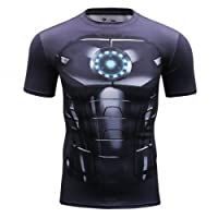 Cody Lundin Hommes Superhero Movie Fashion Manches Courtes en Plein air Style Party Functional Shirt