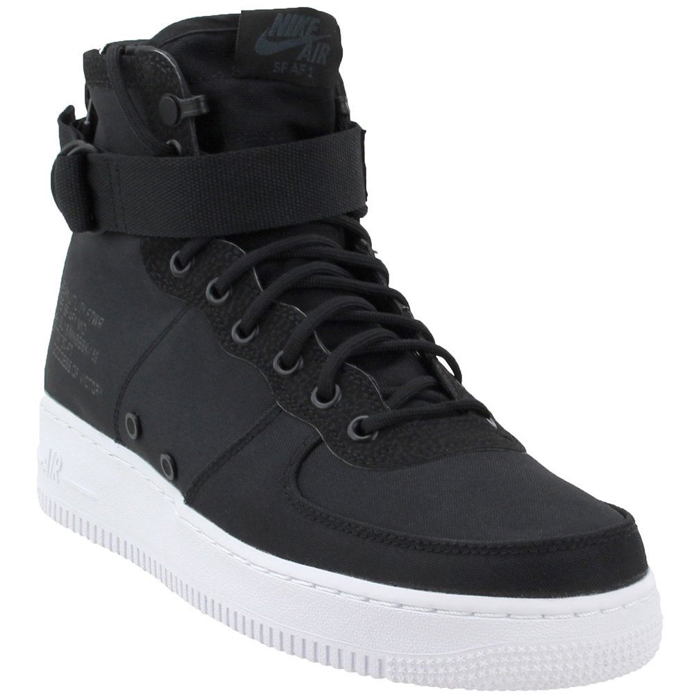 NIKE SF Air Force 1 Mid Men's Basketball Shoes Black/Anthracite/White 917753-006 B07CZ2242M 8 D(M) US|Black / Anthracite-white