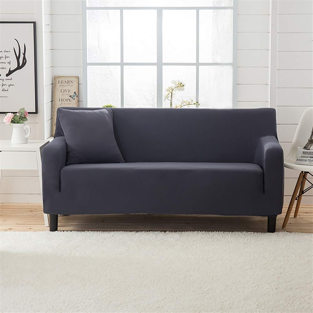 Liveinu Jacquard Spandex Stretch Elastic Sofa Slipcover for Armchair Loveseat Sofa Couch Grey Big Sofa(95