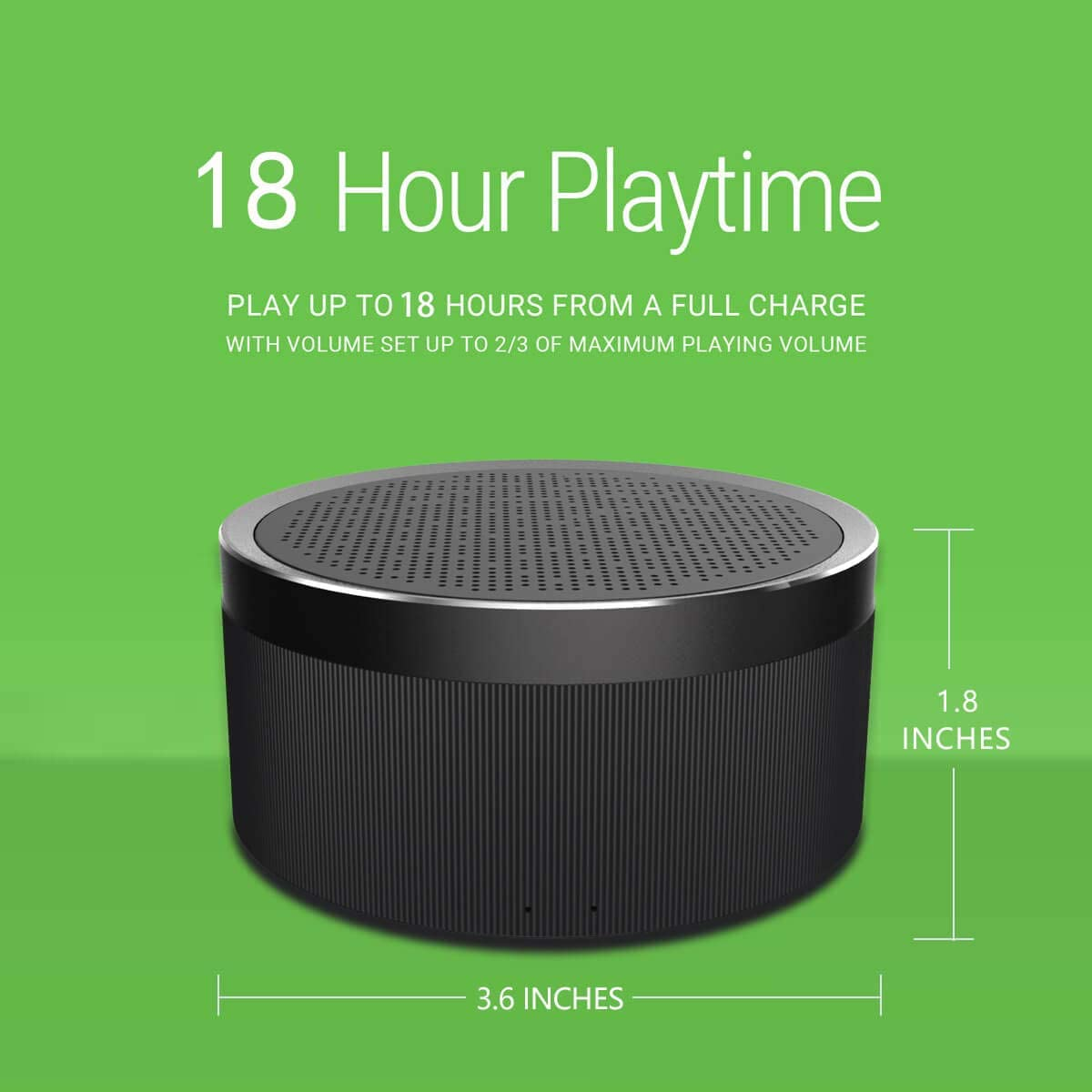 Bluetooth Speaker V4.2, LENRUE Portable Wireless Speaker with HD Sound, 18-Hour Playtime, Built-in Mic, Micro SD Support for iPhone, iPad, Laptop, Samsung and Echo dot Black
