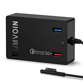 Microsoft Surface Pro 3/Pro 4 Cargador Adaptador Fuente de alimentación Charger Power for Microsoft Surface Pro 3 Pro 4 Surface portatil; Dual USB ...