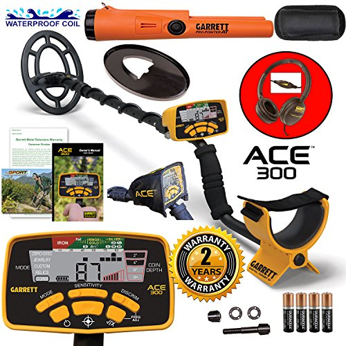 Garrett Ace Metal Detector (Garrett ACE 300 Metal Detector with Waterproof Search Coil and Pro-Pointer AT)