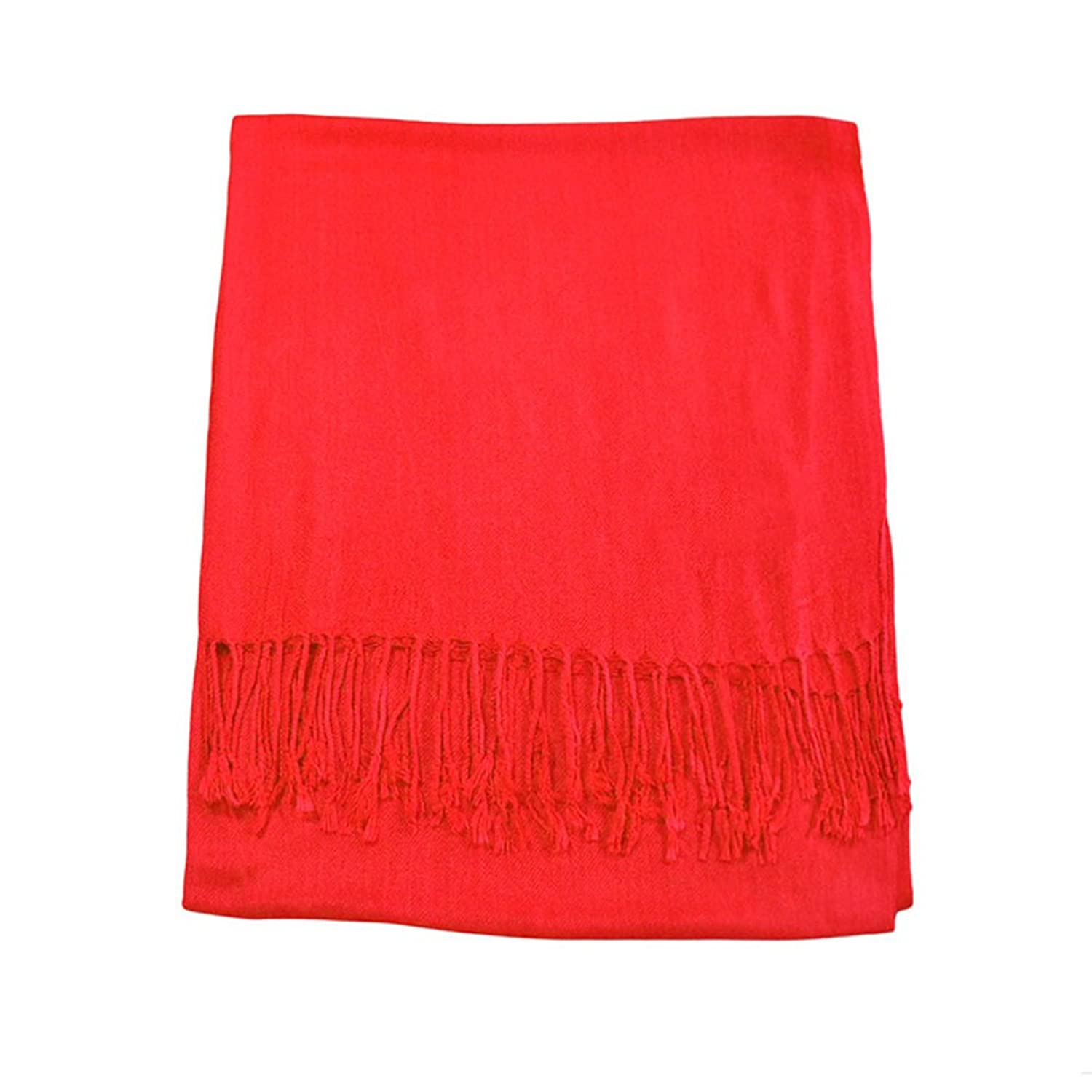 Funbase Winter Women Long Soft Scarves With Tassels Wool Blends Wraps