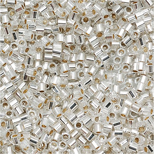 (Miyuki Delica Hex Cut Seed Beads 15/0 Silver Lined Crystal DBSC041 4 Grams)