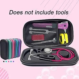 Funda rígida para estetoscopio, funda de transporte de EVA, incluye bolsillo de malla para accesorios, azul: Amazon.es: Bricolaje y herramientas