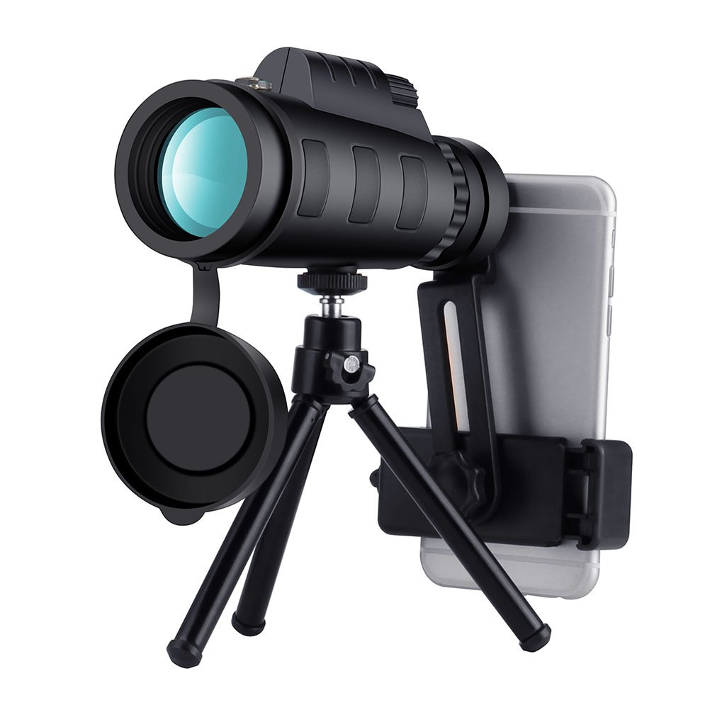 Camera Photo Monocular Telescope and Quick Smartphone Holder 12X50 High Power Prism Scope with Waterproof Fog Proof Shockproof for Hunting Travelling Bird Watching Camping Wildlife