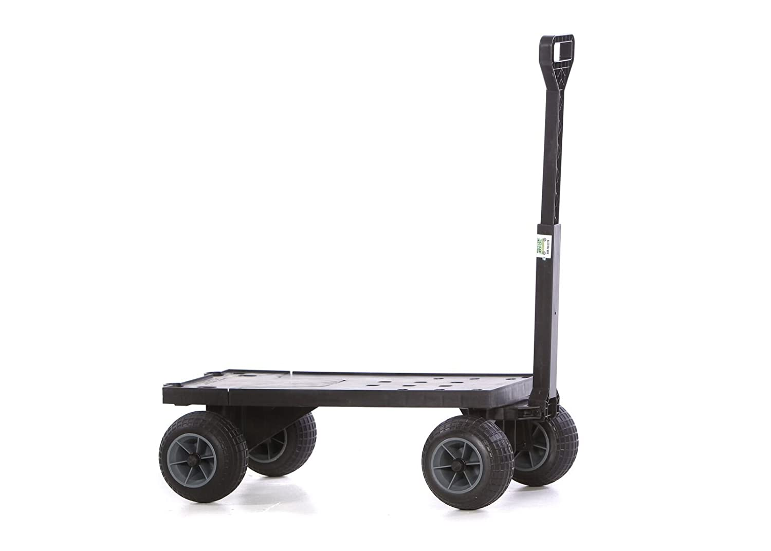 Four Wheeler Pulling Wagon : Flatbed moving cart pull behind rolling utility wagon