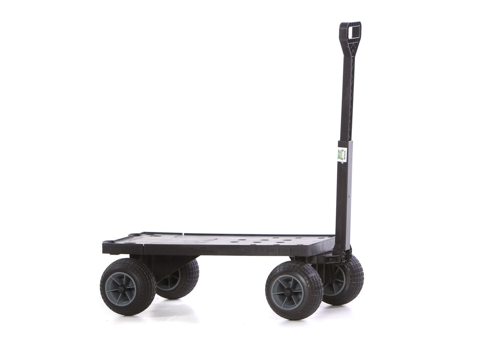 Mighty Max Cart Plus One Flatbed Yard Cart with All-Terrain Weatherproof Wheels