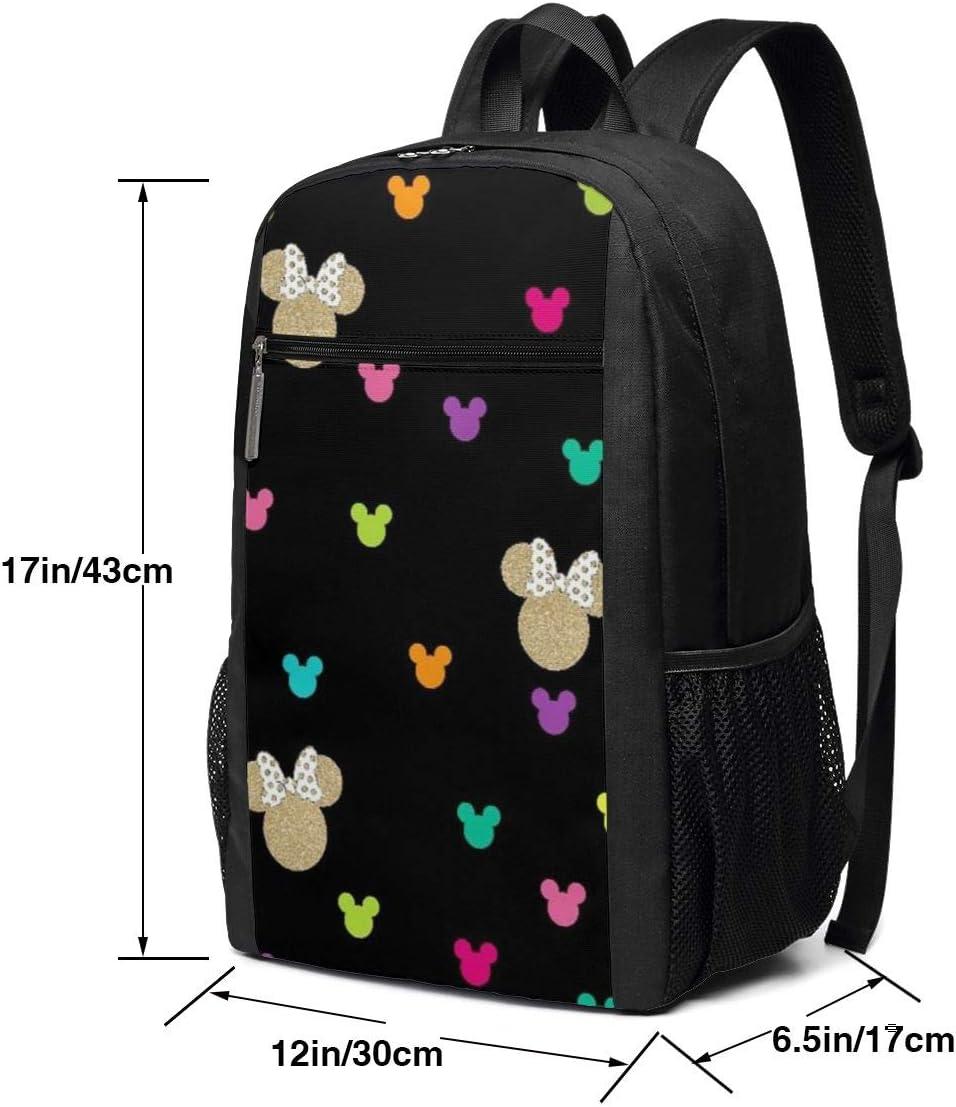Travel Laptop Backpack Mickey Head College School Bookbag Computer Bag Casual Daypack For Women Men