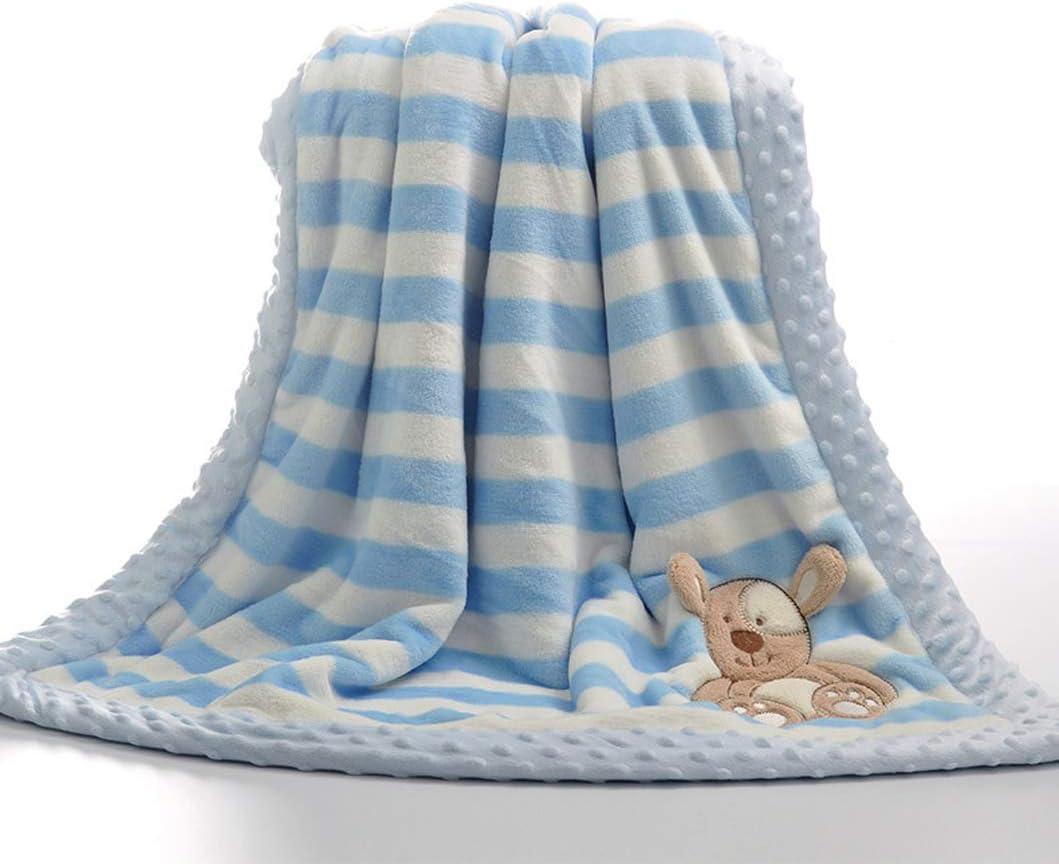 75*100cm//29.5*39.4 inch Mono gris suave Franela doble capa Yumu casa dise/ño de dibujos animados para reci/én nacidos Manta de franela gruesa para beb/é