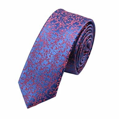 Hombre de la moda de poliéster flacos corbatas boda / 5cm del ...