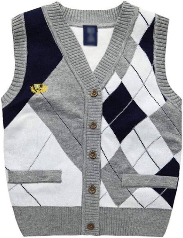 سترة أطفال دافئة من القطن للربيع والشتاء ملابس خارجية بدون أكمام بالإضافة إلى جاكيت سميك مخملي (اللون: رمادي، المقاس: 110 سم)
