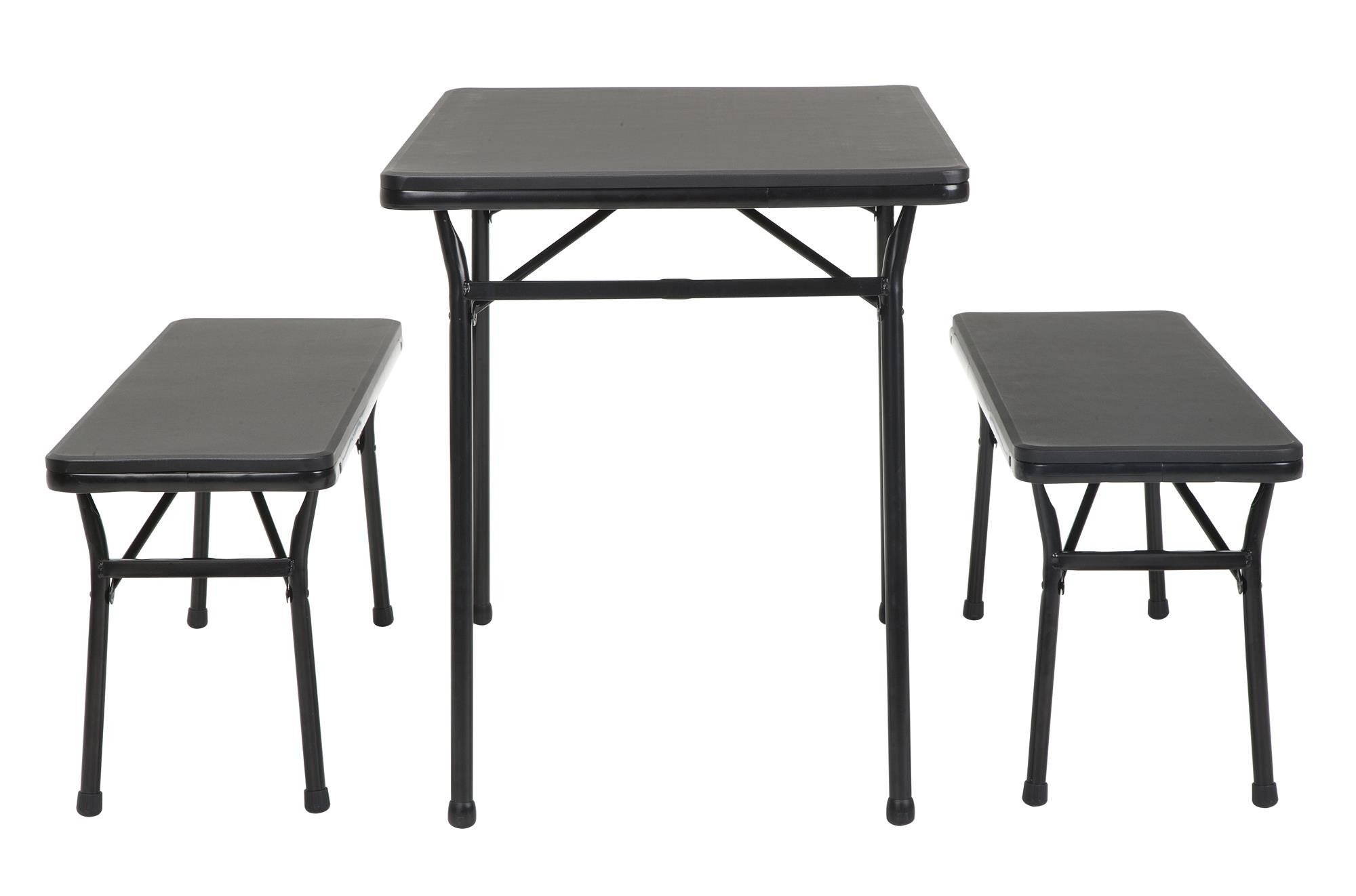 Cosco Products COSCO 3 Piece Indoor Outdoor Table and 2 Bench Tailgate Set, Black by Cosco Products (Image #5)