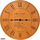 made in usa wood clock - Wedding Gift , Anniversary Gift Personalized clock, Housewarming Gift,