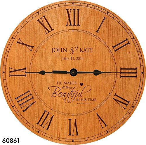 Wedding Gift , Anniversary Gift Personalized clock, Housewarming Gift,