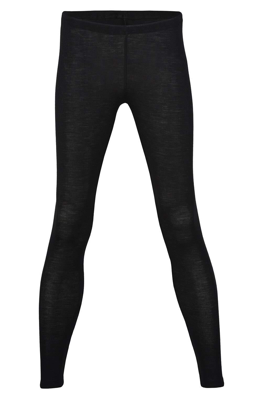 Thermal Underwear Leggings for Women - Merino Wool Base Layer Long Johns Pajama (EU 42-44 | Medium, Black) by Ecoable