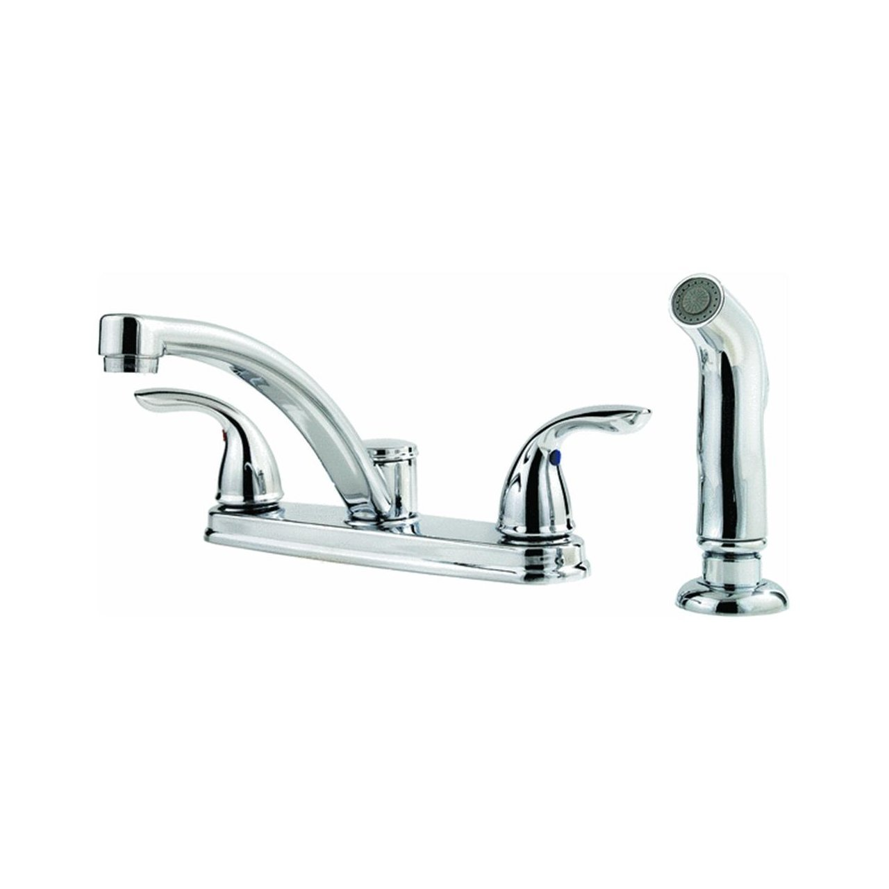 Pfister F-035-4THC Delton 2-Handle Kitchen Faucet with Side Spray, Polished Chrome, 2.2 gpm