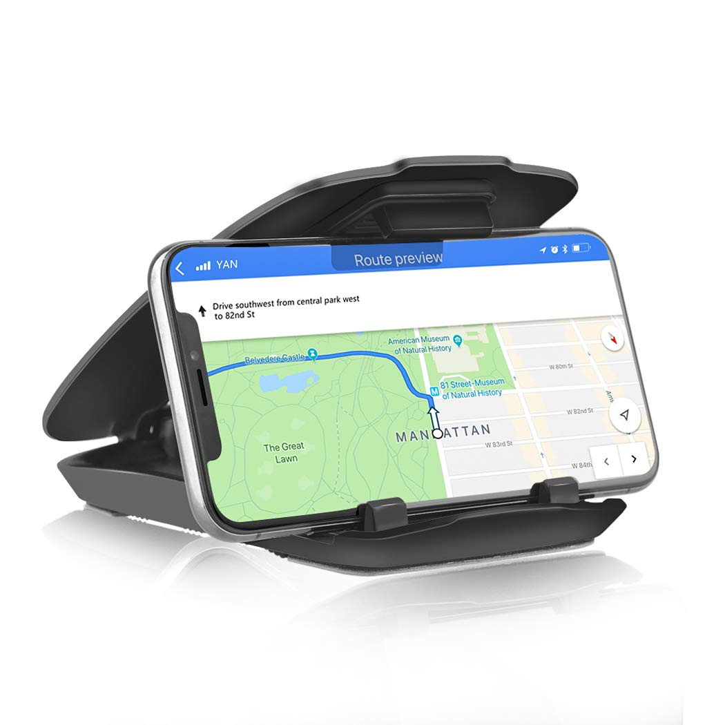 Easy Opening /& Neat Folding GPS Dashboard GPS Holder Mounting in Vehicle for iPhone Android Smartphones Besiva Car Mount Dashboard Cell Phone Holder teV4 Cell Phone Holder for Car