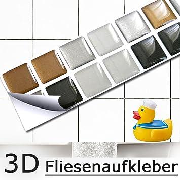 Wootile 4er Set Mosaik 3d Fliesenaufkleber Selbstklebend 23 X 23 Cm