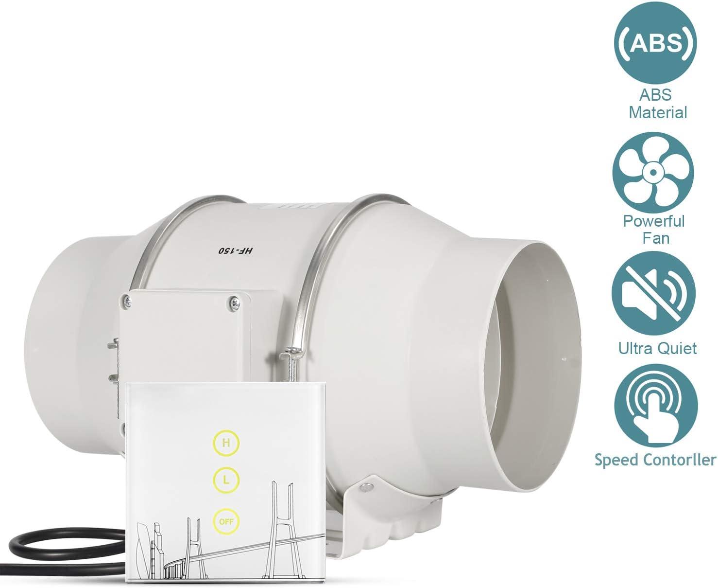 HG Power Ventilador de salida de aire Ventilador Extractor 150 mm ...