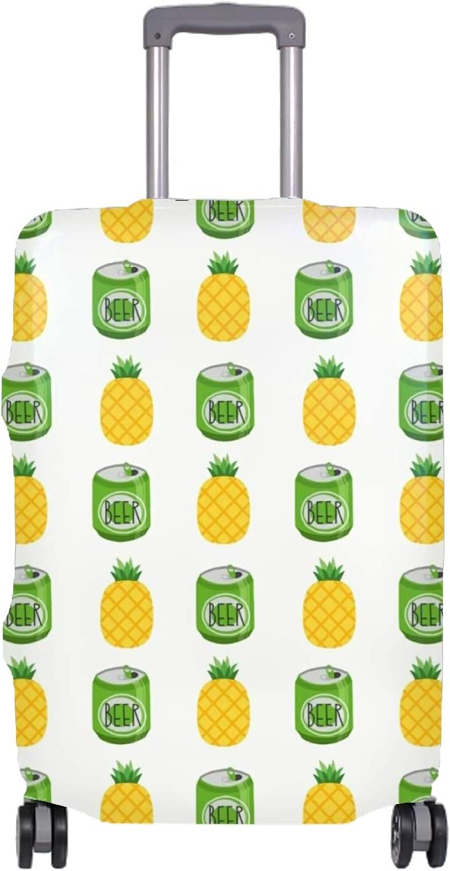 Pineapple Art Travel Luggage Cover Spandex Suitcase Protector Washable Baggage Covers