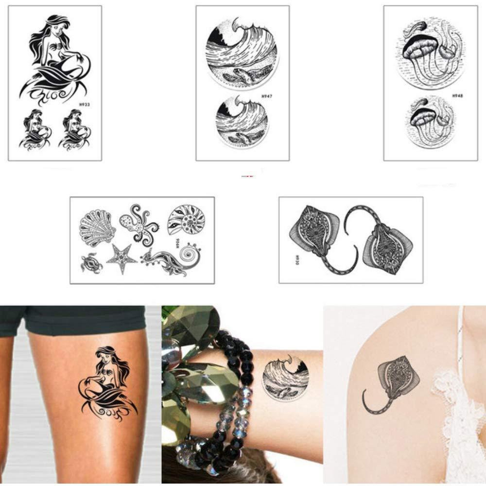 XXPF Pequeña Belleza Mujer Tatuaje Ticker Flor Linda Niños De ...