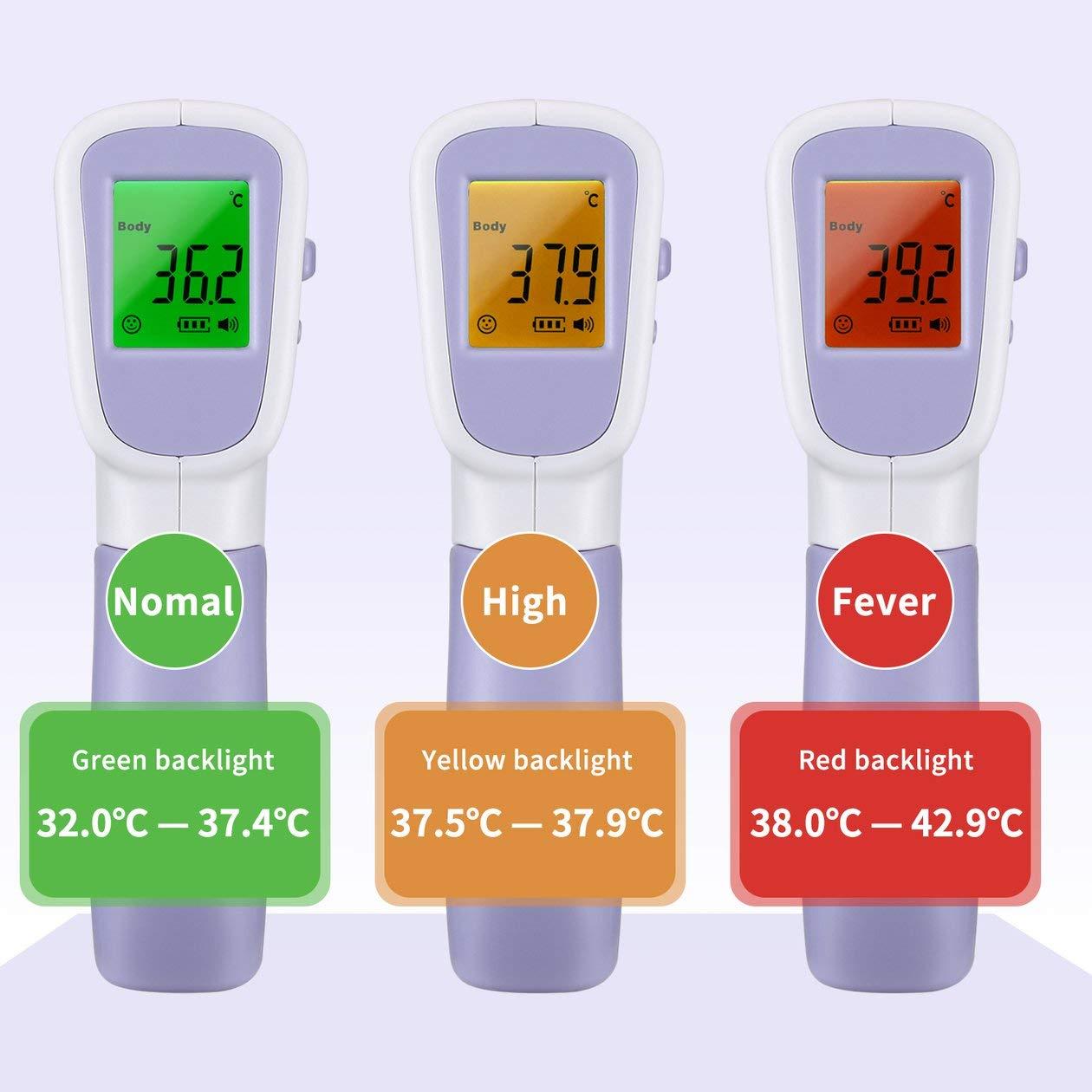 Nowakk Infrarot-Thermometer Ber/ührungsloses Infrarot-Thermometer Hand-Infrarot-Thermometer Hochpr/äzise Messungen der K/örpertemperatur