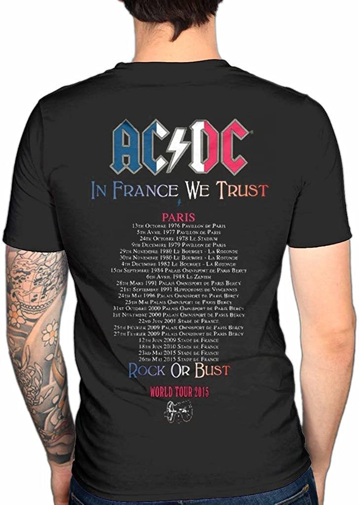 AC//DC T Shirt Rock or Bust Officially Licensed Mens Black Tee 2015 Tour Metal