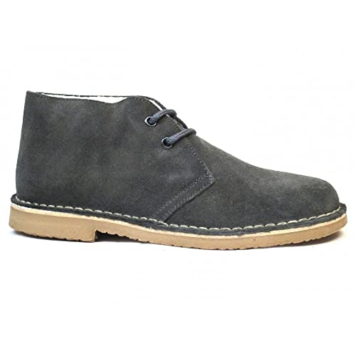 Botas Safari Gris Borreguito - Color - Gris, Talla - 35