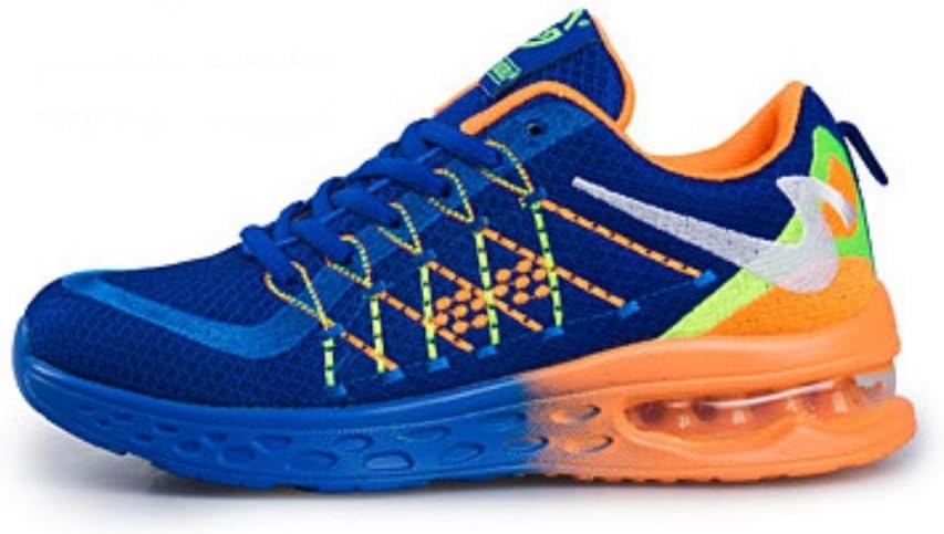 FYQ & calzado deportivo de amortiguamiento amantes transpirable Zapatillas de running calzado de tenis los hombres superficie de cojín colchón de aire blue orange Talla:39: Amazon.es: Deportes y aire libre