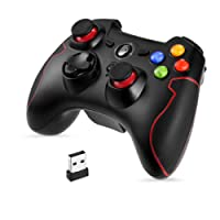 EasySMX Wireless 2.4g Game Controller Support PC (Windows XP/7/8/8.1/10) PS3, Android, Vista, TV Box Portable Gaming Joystick Handle