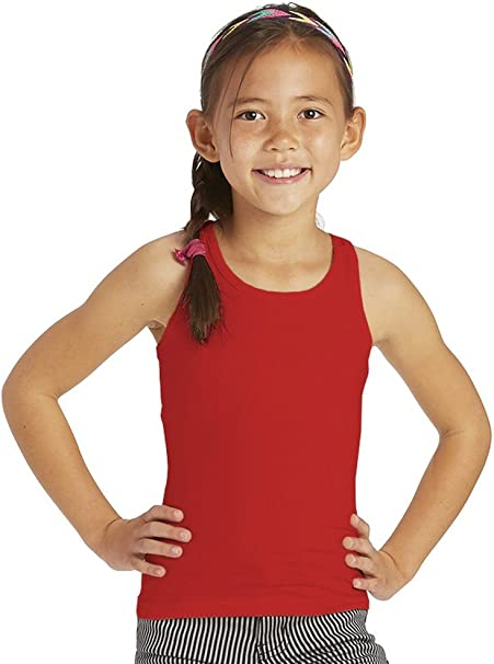 ToBeInStyle Girls Sleeveless Tank Top with Back Key-Hole Detail