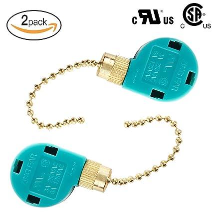 Zing Ear ZE-268S6 3 speed 4 wire pull chain switch, Ceiling Fan ...