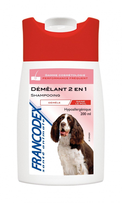 Francodex - Shampooing Pour Chien - Demelant 2 En 1 - 250 Ml