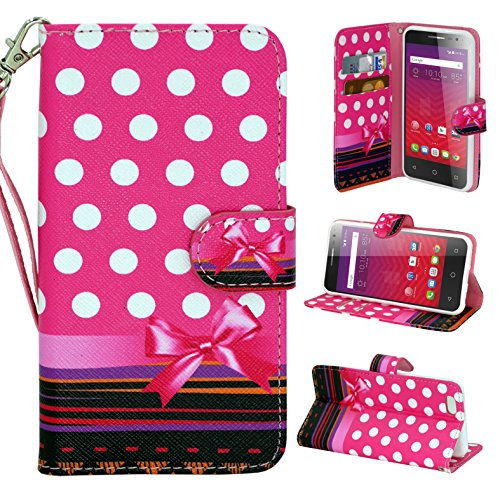 S4 Active Customerfirst, Samsung Galaxy S4 Active Premium Wallet Case Cover /w ID Pocket Top Quality for Galaxy S IV Galaxy SIV i9500 FREE Emoji keychain (Pink Dot) - Galaxy S4 Active Full Wallet Case