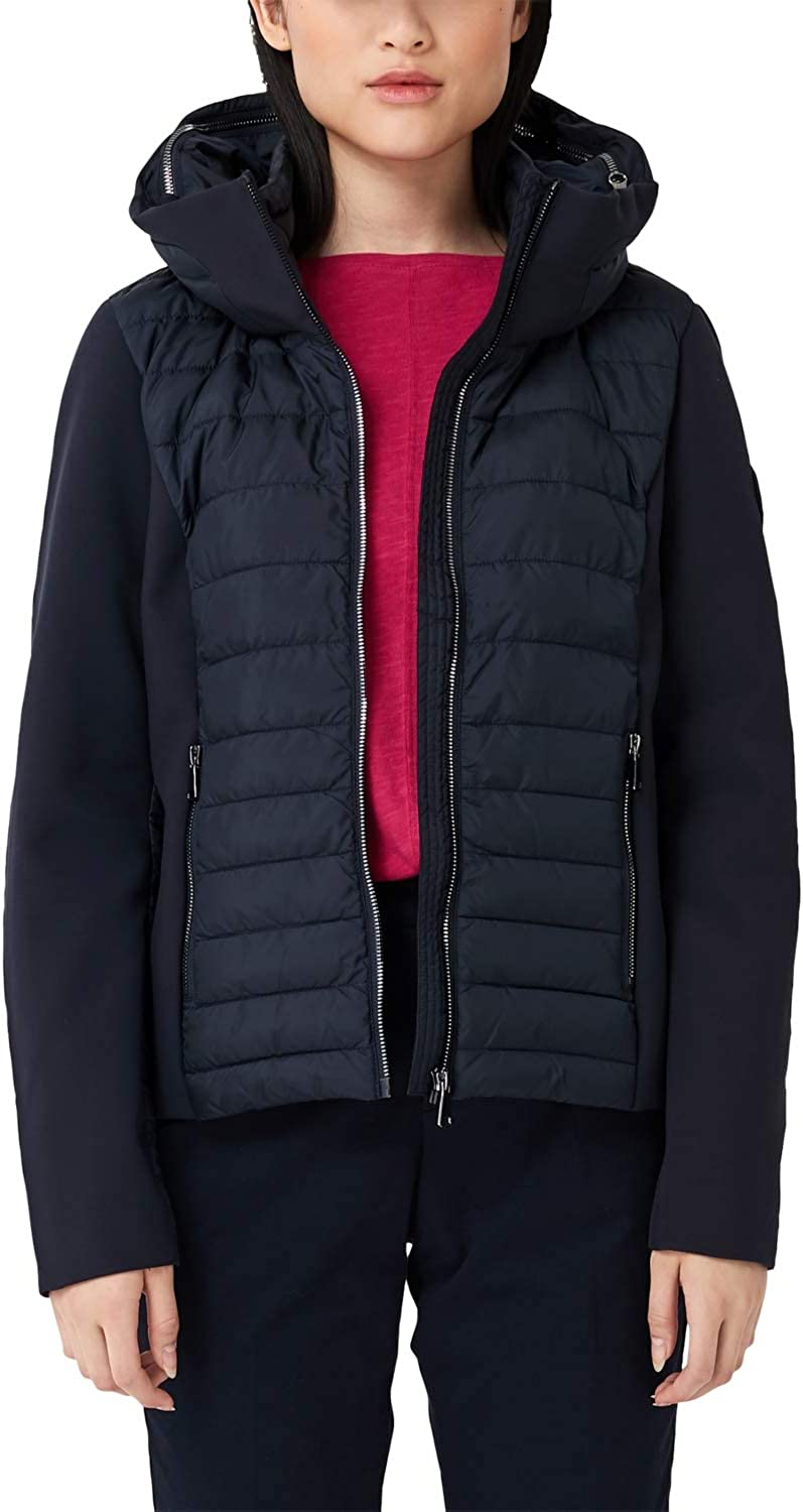 S Oliver Red Label Women S Quilted Jacket With Softshell Details Bekleidung
