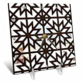3dRose Danita Delimont - Patterns - Qatar, Doha, Abdul Wahhab Mosque, window detail - 6x6 Desk Clock (dc_257254_1)