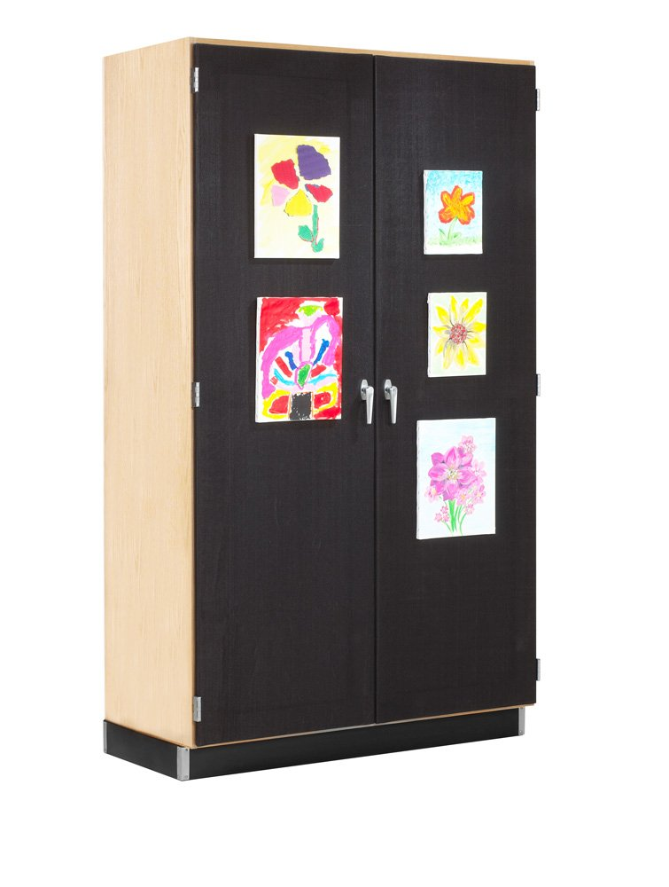 Diversified Woodcrafts 359-4822M Cabinet, Canvas Door Display, 84'' Height, 22'' Width, 48'' Length, Northwoods Maple/Black by Diversified Woodcrafts (Image #1)