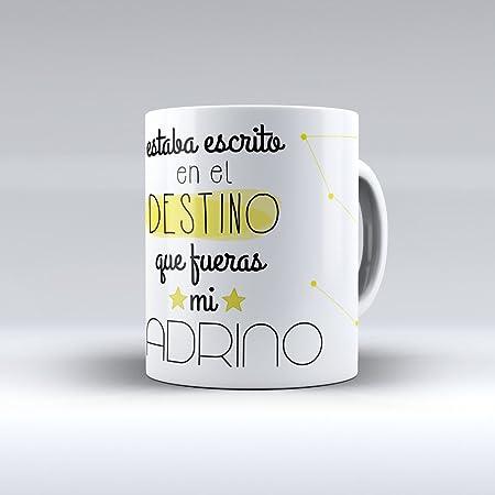 APRIL Taza cerámica Desayuno Regalo Original cumpleaños Padrino Estaba Escrito en el Destino Que Fueras mi Padrino