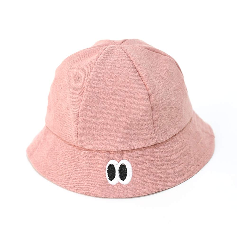 XINGZHE09 Children's Sun Hat - 1-3 Years Old, Wide-Brimmed Bucket Baby Fisherman hat, Solid Color Spring and Summer Outing, SPF UV Protection, Boys and Girls Sun hat, to Choose from Chi by XINGZHE09