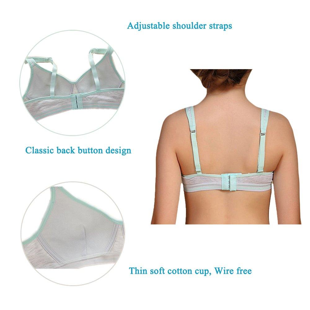 Phennies Big Girls Training Bras Slim Soft Cup Hasp Teen Small Vest Design Wireless Bra HMB8860