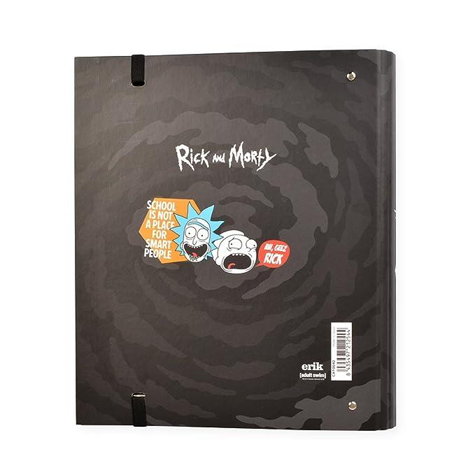 Grupo Erik Editores Rick & Morty - Carpeblock con 4 anillas, 32 x 27.5 cm: Amazon.es: Oficina y papelería
