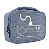 MonkeyJack Shockproof Storage Bag Travel Gadget Carry Case for Nintendo NES Console & Accessories Blue