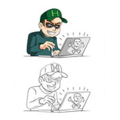 alfombrilla de ratón libro para colorear personaje de dibujos animados del pirata informático: Amazon.es: Electrónica