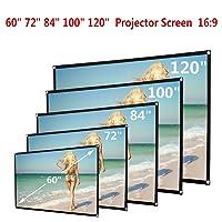 MysterLuna 16:9 Portable Manual Projector Screen Indoor Outdoor Movie Screen Cloth