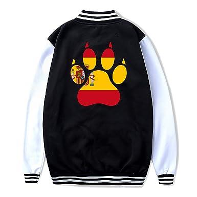 Back Print NJKM5MJ Unisex Youth Baseball Uniform Jacket American Flag Dog Hoodie Coat Sweater Sweatshirt